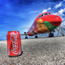 Coca Cola aviation art during the FIFA World Cup Trophy Tour