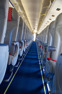 The long cabin of a McDonnell Douglas MD80