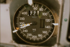 The old style airspeed indicator of the MD80