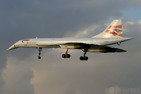 British Airways Concorde on one of its last landings ever at London/Heathrow