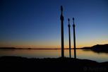 Swords in Rock during sunset, Stavanger