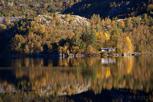 Beautiful fjordlanscape in autumn colors, Stavanger