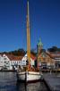 The harbor with Valbergtarnet in the background, Stavanger