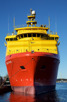 Offshore supply ship docked in Stavanger harbor
