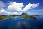 Bora Bora from the air, Tahiti