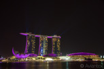 Marina Bay Sands Hotel by night