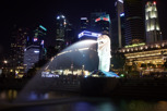 Merlion Park and Singapore skyline