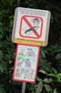 A lot of prohibition signs all over Singapore. This one is found at the Bukit Timah Nature Reserve