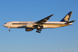 The national carrier, Singapore Airlines with a Boeing 777-200