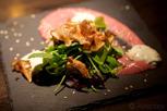 Puffin dish in a trendy restaurant, Reykjavík