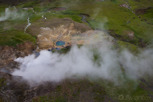 A geothermal pool at the inland