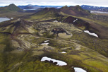 Small volcano and green scenery at Nordunamshraun