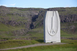 The Viking monument in Skalafell