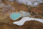 A geothermal pool at Landmannalaugar