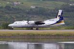 Flugfélag Islands Fokker 50 at Akureyri Airport