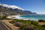 Camps Bay beach and the twelve apostles as backdrop, Cape Town