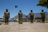 The four Nobel Peace Prize winners at Nobel Square (Luthuli, Tuti, de Klerk and Mandela), Cape Town
