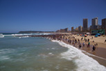 The beach of Golden Mile, Durban