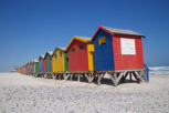 Colorful beach shacks at Muizenberg