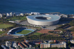 The football stadium as seen from Signal Hill, Cape Town