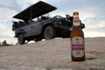 A Castle beer and safari jeep, Kruger National Park