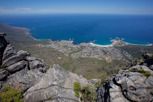 On top of the Table Mountain overlooking Camps Bay, Cape Town