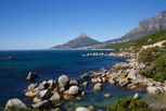 The west coastline of Cape Peninsula with Lion's Head in the distance