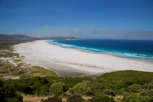 Noordhoek Beach with bush fire smoke spreading, Cape Peninsula