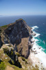 Steep rocks and stormy weather at the Cape Peninsula