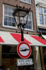 Interesting sign in downtown Amsterdam