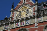 The beautiful Centraal Station building, Amsterdam