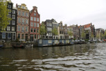 Dutch houses by the canal, Amsterdam