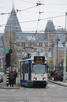 Local tram in front of Rijksmuseum, Amsterdam