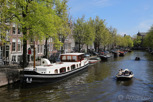 Houseboat in the canals, Amsterdam