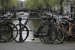 Bicycle, canals and boats, Amsterdam
