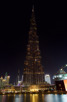 Burj Khalifa during darkness, Dubai
