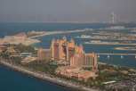 The Atlantis, Burj Al Arab and Burj Khalifa in the far distance, Dubai