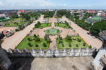 Patuxai roof top view, Vientiane
