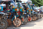 Tuk tuk parking, Vientiane