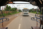 Tuk tuk ride and local beer truck delivery, Vientiane