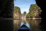 Canoeing through the limestone tower krasts, Ao Phang Nga National Park