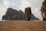 Khao Phing Kan at James Bond Island during low tide, Phuket