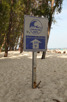 Tsunami warning sign, Bamboo Island