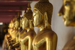 Buddhas at the Temple of the Reclining Buddha (Wat Pho), Bangkok