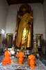 Monks at the Temple of the Reclining Buddha (Wat Pho), Bangkok