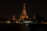 The Temple of Dawn (Wat Arun) at night, Bangkok