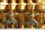 Guards at Temple of the Emerald Buddha (Wat Phra Kaew), Bangkok