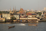Longtail boats on the Chao Phraya River, Bangkok