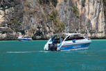 Speedboats inside the Pileh Lagoon, Phi Phi Islands