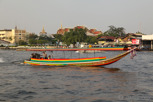 Longtail boat on the Chao Phraya River, Bangkok